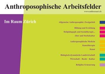 Anthroposophische Arbeitsfelder Im Raum Zürich - anthrozueri.ch