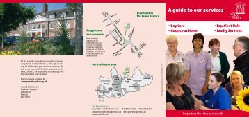 A guide to our services (pdf) - Peace Hospice