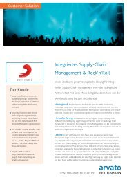 Integriertes Supply-Chain Management & Rock'n'Roll