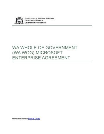 Microsoft Campus Agreement Renewal For Wa Ctc