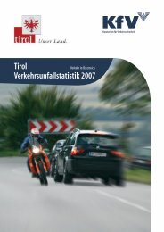 Tirol Verkehrsunfallstatistik 2007