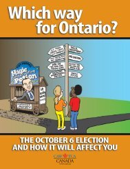 Which way for Ontario? - CAW