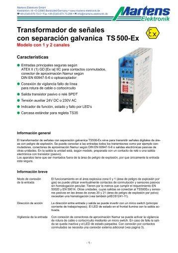 TS500Ex-00- Prospekt - Martens Elektronik GmbH
