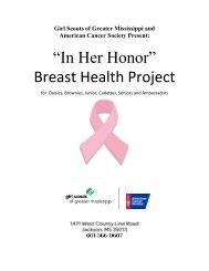 In Her Honor – Breast Health Project - Girl Scouts of Greater ...