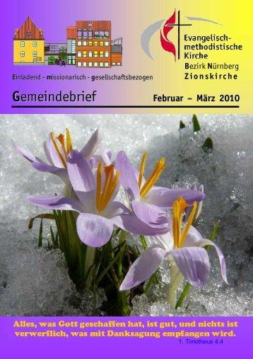 Gemeindebrief Februar – März 2010 - Zionsgemeinde