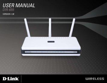Manual for d link dir 655.