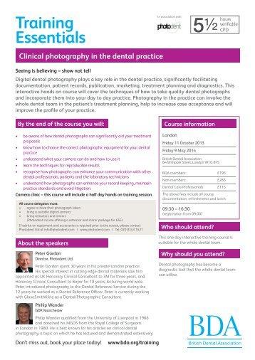 Training Essentials - the British Association of Dental Therapists