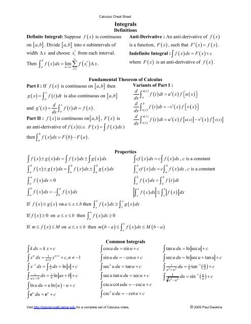 How To Study Mathematics Pauls Online Math Notes Lamar