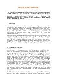 Sechste wissenschaftliche Studie am Institut für Sportwissenschaft ...