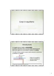 Corpi in equilibrio - Sdasr.unict.it