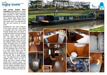 Narrowboat BRAMblEhURSt - Rugby Boat Sales