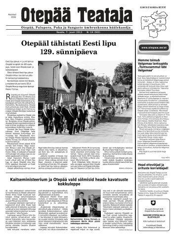Otepääl tähistati Eesti lipu 129. sünnipäeva - Otepää vald