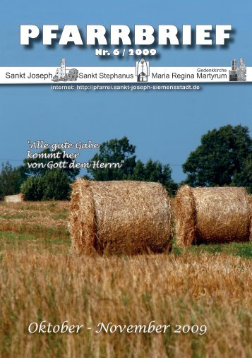 Download Pfarrbrief-2009-06.pdf - St. Joseph, Siemensstadt