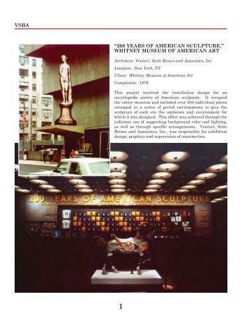 200 years of american sculpture - Denise Scott Brown