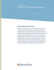 Health Care Strategies Brochure - Analysis Group
