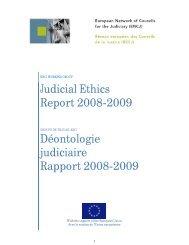Judicial Ethics Report 2008-2009 Déontologie judiciaire Rapport ...