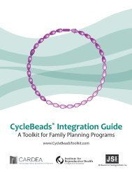 CycleBeads Integration Guide - Institute for Reproductive Health