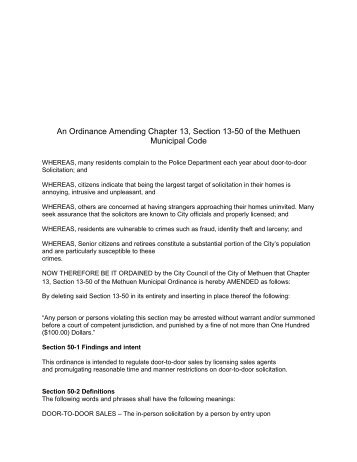 Link to Proposed Ordinance TO-11-12 - Methuen