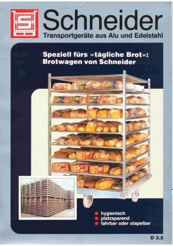 Brotwagen - Schneider Leichtbau