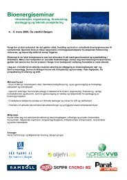 bioenergiseminar - Norsk Fjernvarme