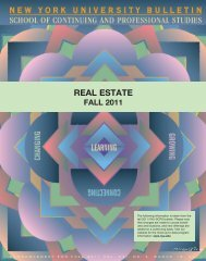 real estate - School of Continuing and Professional Studies - New ...