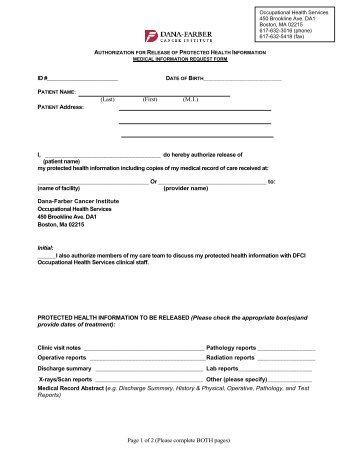 Patient request form for deletion of records - The National Cancer ...