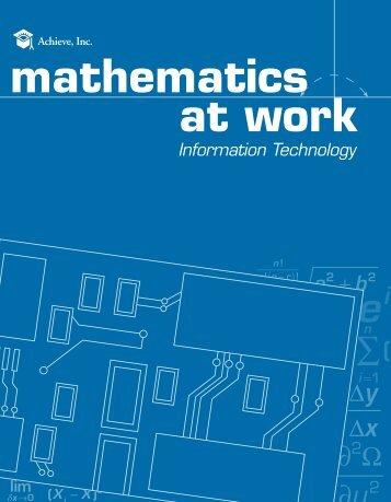 mathematics at work thematics - Achieve