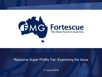 Resource Super Profits Tax: Examining the Issue - CEDA