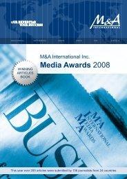 Media Awards 2008 - M&A International Inc.