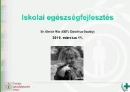 Az iskolai egészségfejlesztés Dr. Simich Rita - Országos ...