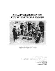 Stralingsexperimenten Koninklijke marine 1960-1966 [pdf] - De ...