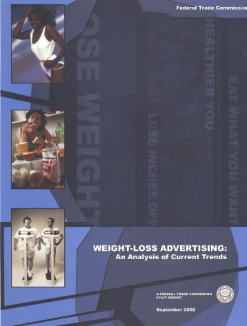 Weight-loss advertising - Federal Trade Commission