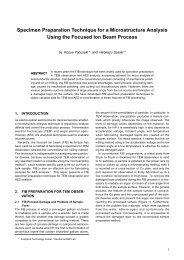 Specimen Preparation Technique for a Microstructure Analysis ...