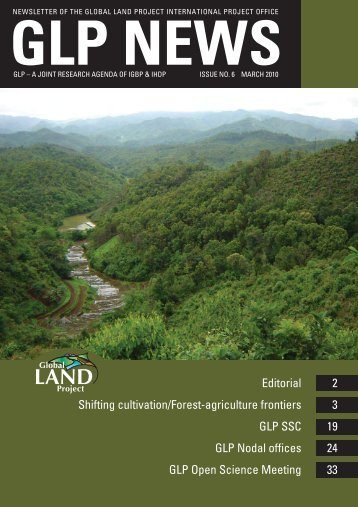 GLP NEWS No. 6 March 2010 - Global Land Project