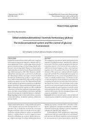 Układ endokanabinoidowy i kontrola homeostazy glukozy The ...
