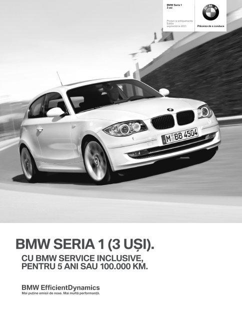 Descărcare. Lista de preţuri curente pentru modelul BMW seria 1