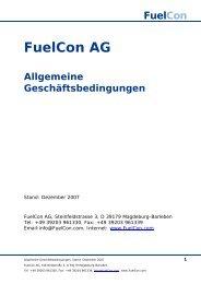 FuelCon AG Allgemeine Geschäftsbedingungen
