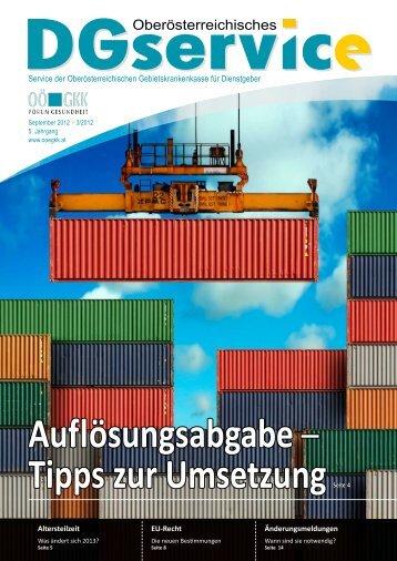 DGservice Magazin Nr. 3 2012 - Dienstgeber - OÖGKK