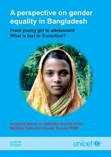 A perspective on gender equality in Bangladesh - Unicef