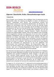 Zigeuner: Geschichte, Kultur, Herausforderungen heute - Don Bosco ...