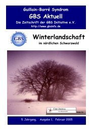 Winterlandschaft - Guillain-Barré Syndrom