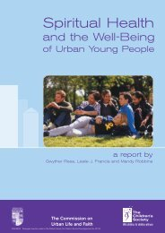 Spiritual Health and the Well-Being of Urban Young People