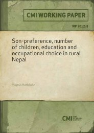 Son-preference, number of children, education and ... - CMI