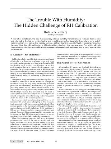 The Trouble With Humidity - The Hidden Challenge of RH ... - Vaisala