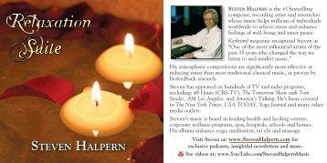 View PDF of the album's liner notes - Inner Peace Music Steven ...