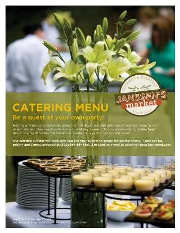 CATERING MENU - Janssen's Market