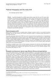 Particle Image Velocimetry in Aerodynamics: