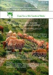 L'agriculture à Haute Valeur Naturelle : état de l'art ... - CAP2020