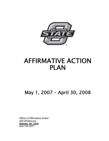 Sample Affirmative Action Program (Aap) The Following