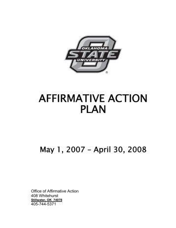 OSU Affirmative Action Plan - Oklahoma State University